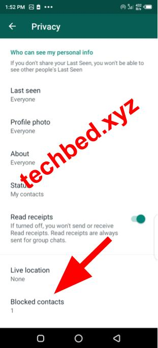 How To See Your WhatsApp Blocked List: Blocked Contacts List